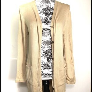 Brooks Brothers Long Cardigan Duster Sweater Med